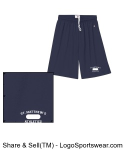Mens PE Uniform Approved Shorts with 9 inch Inseam Design Zoom