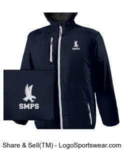 Uniform Approved Holloway Youth Hooded Jacket with Embroidered Logo Design Zoom