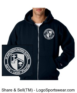 Uniform Approved Unisex Adult Champion Heavyweight Zip Hooded Sweatshirt Design Zoom