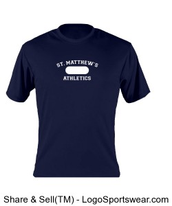 Mens PE Uniform Approved Performance Tee Design Zoom